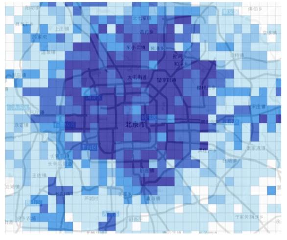 北京区域的格点图